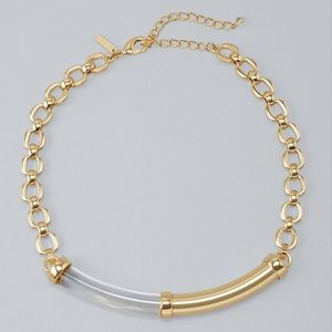 WHBM LUCITE BAR SHORT NECKLACE